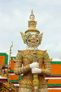 Giant white are thai art form thai literature to decorate wat phra kaew inside grand palace bangkok thailand Stock Image