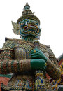 Giant yaksha demon guardian statue at the historic grand palace in bangkok thailand huge standing guard Royalty Free Stock Image