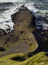 Giants causeway seen from above the main footprint of antrim coastline northern ireland the is the most popular Stock Image