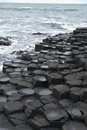 The giants causeway unusual rocks of in northern ireland Royalty Free Stock Images