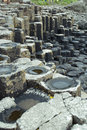 The giants causeway unusual rocks of in northern ireland Stock Image