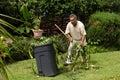 Giardiniere sul lavoro Fotografia Stock