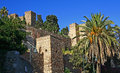 Gibralfaro Castle Malaga Stock Photos