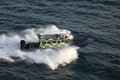 Gibraltar coast guard speed boat sir john chapple Stock Photo