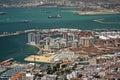 Gibraltar harbour bay traffic Royalty Free Stock Photo