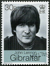 GIBRALTAR - 1999: shows John Winston Ono Lennon 1940-1980, singer and songwriter Royalty Free Stock Photo