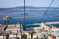 Gibraltar Town and Bay Royalty Free Stock Photos