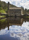 Gibson mill in hardcastle crags nature park hebden bridge Stock Photography