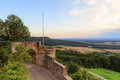 Giechburg castle picture of the ruin shot in high summer august with the countryside in the background Royalty Free Stock Photo