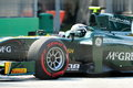 Giedo Van Der Garde racing at Singapore GP 2012 Royalty Free Stock Photo
