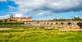 Gien - view at the Olg bridge with city Royalty Free Stock Photo