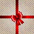 Gift background with red ribbon Stock Images