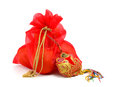 Gift bag chinese new year Royalty Free Stock Photo