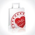 Gift bag with huge heart Stock Image