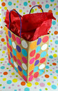Gift bag with polka dots Stock Photography