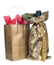Gift Bag and Wine Royalty Free Stock Photo