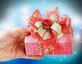 Gift With a Big Bow Stock Images