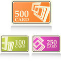 Gift and bonus cards Royalty Free Stock Photos