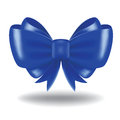 Gift bow blue vector and ribbon image contains gradient mesh Stock Images