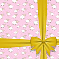 Gift bow with ribbon vector illustration this is file of eps format Stock Image