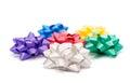 Gift bow on white background Royalty Free Stock Photo
