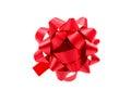 Gift bow on white background Stock Photo