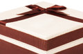 Gift with bow for your design Royalty Free Stock Photos