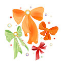 Gift bows set of colorful Stock Photos