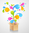 Gift box abstract background Stock Image