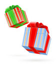 Gift box with bow Royalty Free Stock Photos