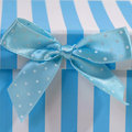 Gift box with bow for babies Royalty Free Stock Images