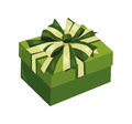 Gift box with bow and ribbon Royalty Free Stock Photos