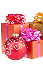 Gift box. Christmas and New Year Royalty Free Stock Photos