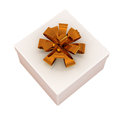 Gift box isolated on a white background Royalty Free Stock Photography
