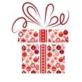 Gift box made of Christmas symbols Royalty Free Stock Photography