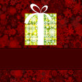 Gift box made from white snowflakes on red. EPS 8 Royalty Free Stock Photo