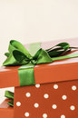 Gift box the open red 。 Royalty Free Stock Photo