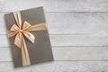 Gift Box Over White Wood Top V...