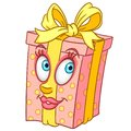 Cartoon present gift box