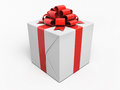 Gift box render on white and clipping path Stock Photos