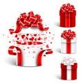 Gift box set vector Royalty Free Stock Photo