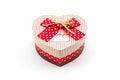 Gift box shaped heart. Royalty Free Stock Photo