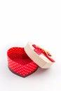 Gift box shaped heart . Royalty Free Stock Photo