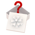 Gift box with a surprise Royalty Free Stock Photo