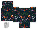 Gift box template favor product die cut abstract floral pattern designer Stock Images