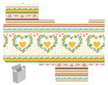 Gift box template favor product die cut hearts pattern designer Royalty Free Stock Image
