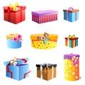 Gift box vector Royalty Free Stock Photo