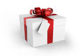Gift box white background Stock Photography