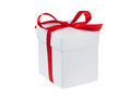 Gift box on a white background Royalty Free Stock Photography