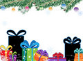 Gift Boxes and Christmas decorations Royalty Free Stock Images